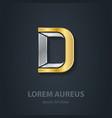 letter d template for company logo 3d design