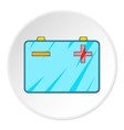 Machine battery icon cartoon style vector image vector image