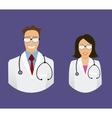 medical doctor profile icons vector image