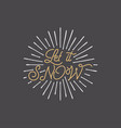 merry christmas lettering let it snow typography vector image vector image