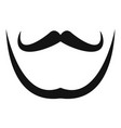 mustache and beard icon simple style vector image vector image