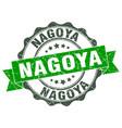 nagoya round ribbon seal vector image vector image