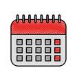 office calendar date planner organization vector image