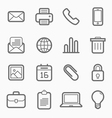 office elements symbol line icon set vector image vector image