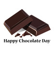 on a theme of world chocolate vector image vector image