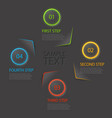 one two three four - flat progress icons for four vector image vector image