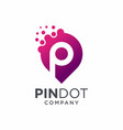 pin dot logo design vector image vector image