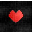 pixel art heart on black pixel background vector image vector image