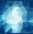 polygonal square background sky blue vector image vector image