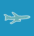 pretty layout of aircraft vector image vector image