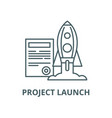 project launch line icon linear concept vector image