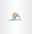 rainbow symbol icon vector image vector image