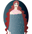 Redhead Ghost Girl vector image