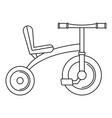 retro tricycle icon outline style vector image