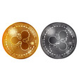 ripple gold and silver coins vector image vector image