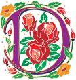 rosette letter D vector image vector image