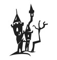 scary castle icon simple style vector image vector image