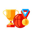 school background with sport icons and symbols vector image