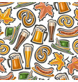 seamless pattern for oktoberfest vector image
