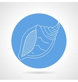 Seashell blue icon vector image