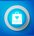 shopping bag shop love heart symbol with sale vector image vector image