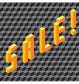 Single word Sale made of cubes vector image vector image