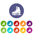 skates ice icons set color vector image