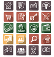 Smart flat icon set vector image