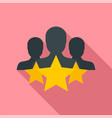 star customer retention icon flat style vector image