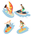 summertime vacations and rest water sports vector image vector image
