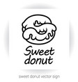 sweet glaze donut in form of letter s vector image vector image