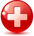 switzerland flag icon vector image vector image