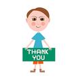 Thank You Man vector image vector image