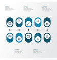 Trade outline icons set collection of bank card vector image