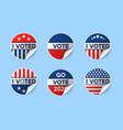 usa 2020 voting icons set circle realistic vector image vector image