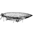 vintage engraving an airship dirigible aircraft vector image vector image