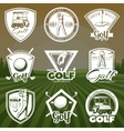 Vintage Golf Club Logos vector image
