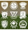 Vintage Golf Club Logos vector image vector image