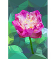 Vivid pink color polygonal lotus flower vector image
