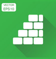 wall brick icon business concept wall pictogram vector image