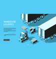 warehouse logistics concept halftone isometric vector image vector image