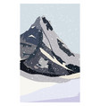 winter north mountain landscape simple flat vector image