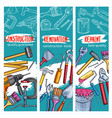 work tools for home repair sketch banners vector image vector image