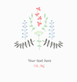 Gentle decor with flowers vector image
