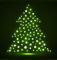 abstract christmas tree from glowing dots vector image vector image
