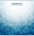 abstract geometric triangles pattern blue vector image vector image