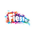 abstract logo for fiesta vector image vector image