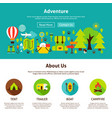 adventure web design vector image vector image