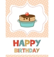Birthday card with dessert vector image