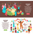 birthday party entertainment banners vector image vector image